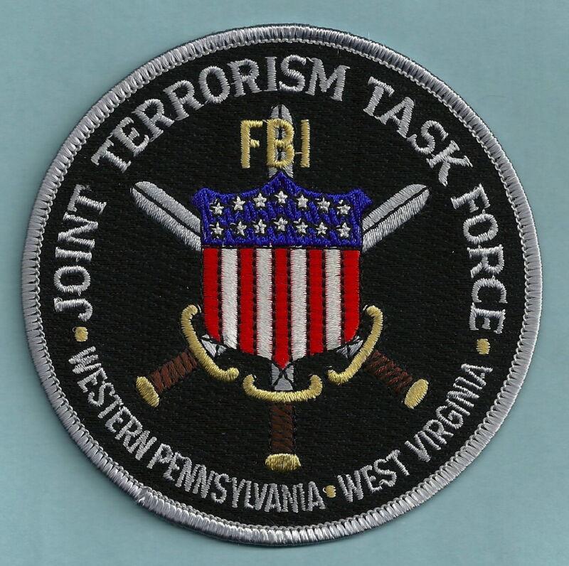 FBI PENNSYLVANIA - WEST VIRGINIA JTTF JOINT TERRORISM TASK FORCE SHOULDER PATCH