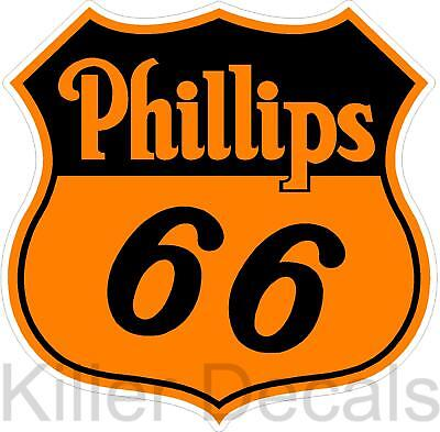 6  Phillips 66 Shield Gasoline Decals Gas And Oil
