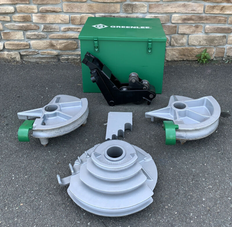 "Greenlee 555 Hydraulic Pipe Bender 1/2""-2"" EMT Shoes & Rollers **NICE SHAPE** #3"