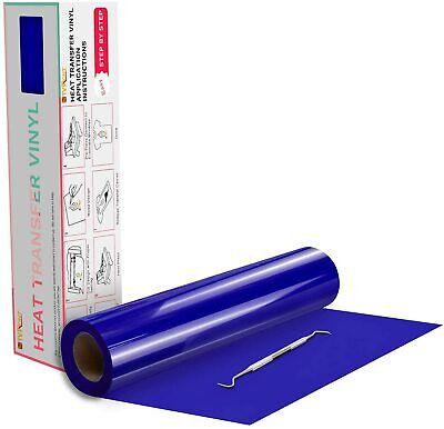 Royal Blue Htv Heat Transfer Vinyl Roll - Heat Press For T-shirt 12in X 20feet