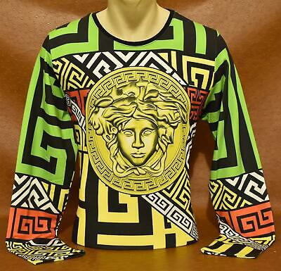 Brand New With Tags Men's VERSACE Long Sleeve T-SHIRT Size M&L