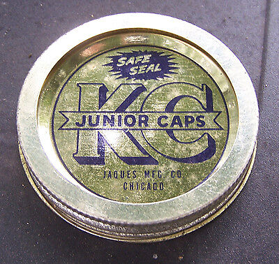 2 Piece Jar - Vintage 2 Piece KC JUNIOR CAP Fruit Jar Lid - No 63 Size ODD SIZE Smaller