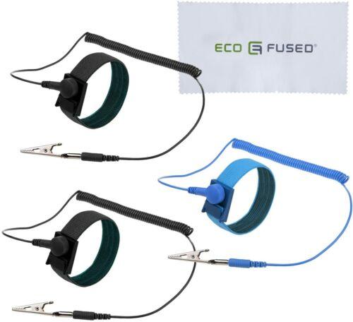 Anti Static Wrist Straps - 3 Pack - Reusable Anti-Static Wrist Straps Eco-Fused