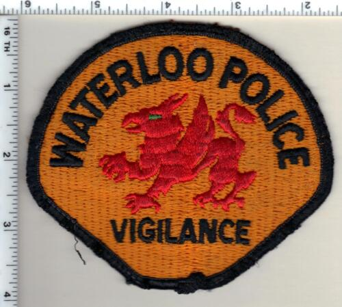 Waterloo Police (Iowa) uniform take-off Shoulder Patch from 1990