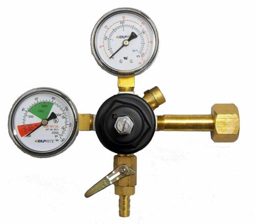 "Taprite Dual Gauge CO2 Primary Regulator with 5/16"" Hose Barb CGA320 - 3741BR"