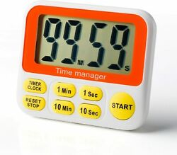 Digital Countdown Kitchen Timer With Alarm Clock Large Led Count Down Timer Fast