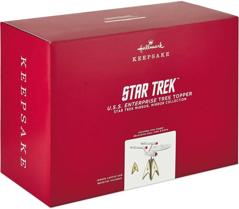 Hallmark 2020 Star Trek U.S.S. Enterprise Musical Tree Topper - Brand New