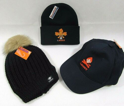 Mens Adults Teen iScout Cubs Baseball Cap Scarf Pom Bobble Hat Flame Logo Beanie