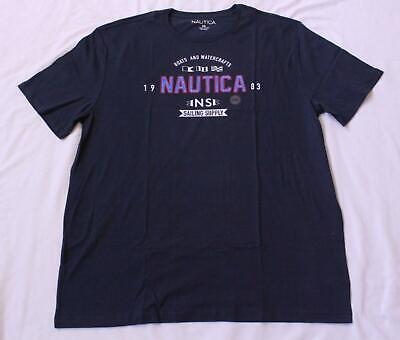Nautica Men's Boats And Watercrafts Graphic Tee T-Shirt SH3 Navy Size 2XL NWT