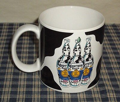 1988 In Over Our Heads COWRONA EXTRA Cows in Bottle Las Tugga Mas Udders Mug VNT