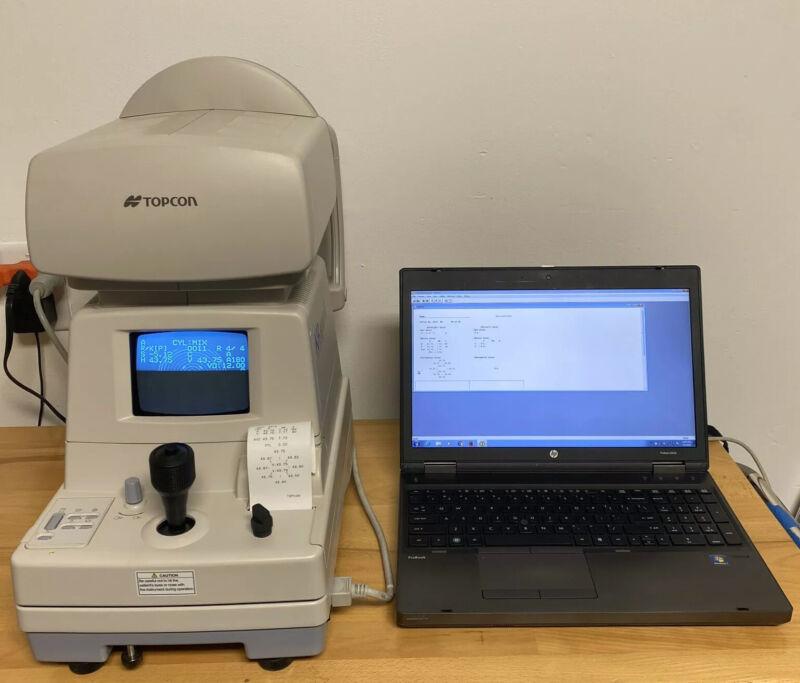 Topcon KR-8000PA AutoRefractor/Keratometer /Corneal Topographer System /Laptop