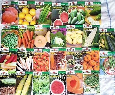 LOT OF 26 BURPEE SEED PACKETS ASSORTED VEGETABLES PEAS, CORN, BEANS Dated 11/20