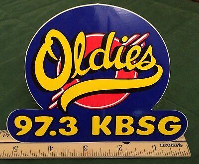 Vintage Radio Bumper Sticker KBSG 97.3 Oldies FM