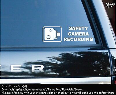 SAFETY CAMERA RECORDING Car Security Stickers Anti Theft Decals Best