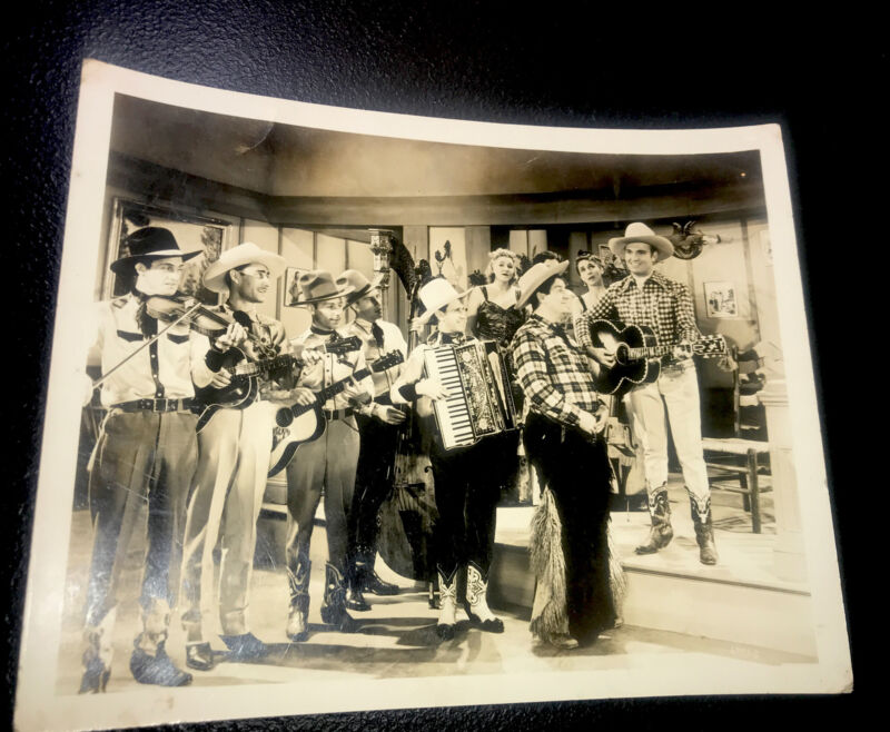 1930's Country Music Gene Autry & The Golden Cowboys WLS Radio Music Photo