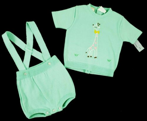 VTG NWT Nannekins Nannette 2 Pc Baby Girl Embroidered Giraffe Outfit 18 Month