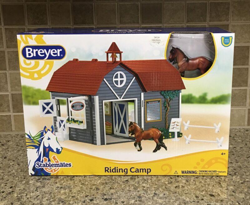 NEW Breyer Horses Stablemates  Riding Camp Set #59212 Horse Barn
