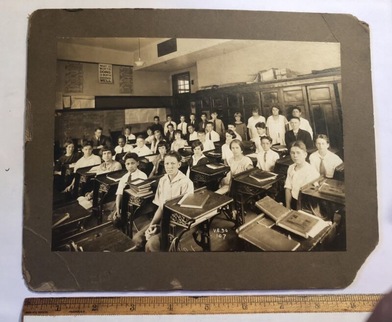 c1915 Public School 107 New York City? BeooklynClass Photo Original Mounted 7x9