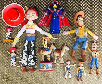 10 Toy Story 1 2 3 4 Action Figures & Plush Lot Woody, Jesse, Zurg Mega Morph