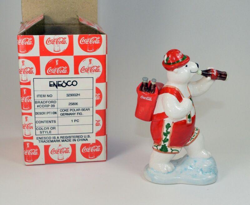 "Vintage 1997 Coca Cola Polar Bear ""Around the World-Germany"" New in Box!!"
