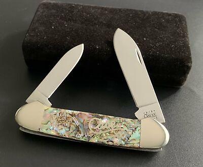 2000 Case XX 82131 SS Abalone Handle Canoe Pocket Knife #03902