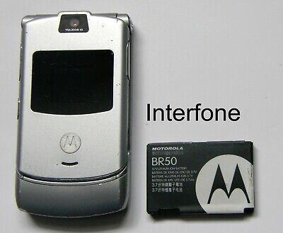 Unlocked Original Motorola V3 Mobile Phone-V/Good Cond-Optional Charger Bundle