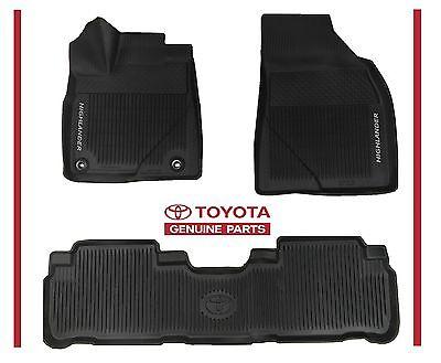 2018 2017 2016 HIGHLANDER  Toyota All Weather Floor Liner Mat Set PT908 48165 02