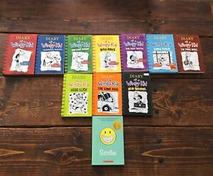 Diary of a wimpy kid books, and the book smile