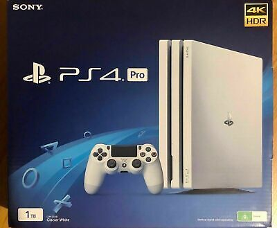 Brand NEW Sony PS4 PlayStation 4 Pro 1TB Console (Glacier White) Never Used