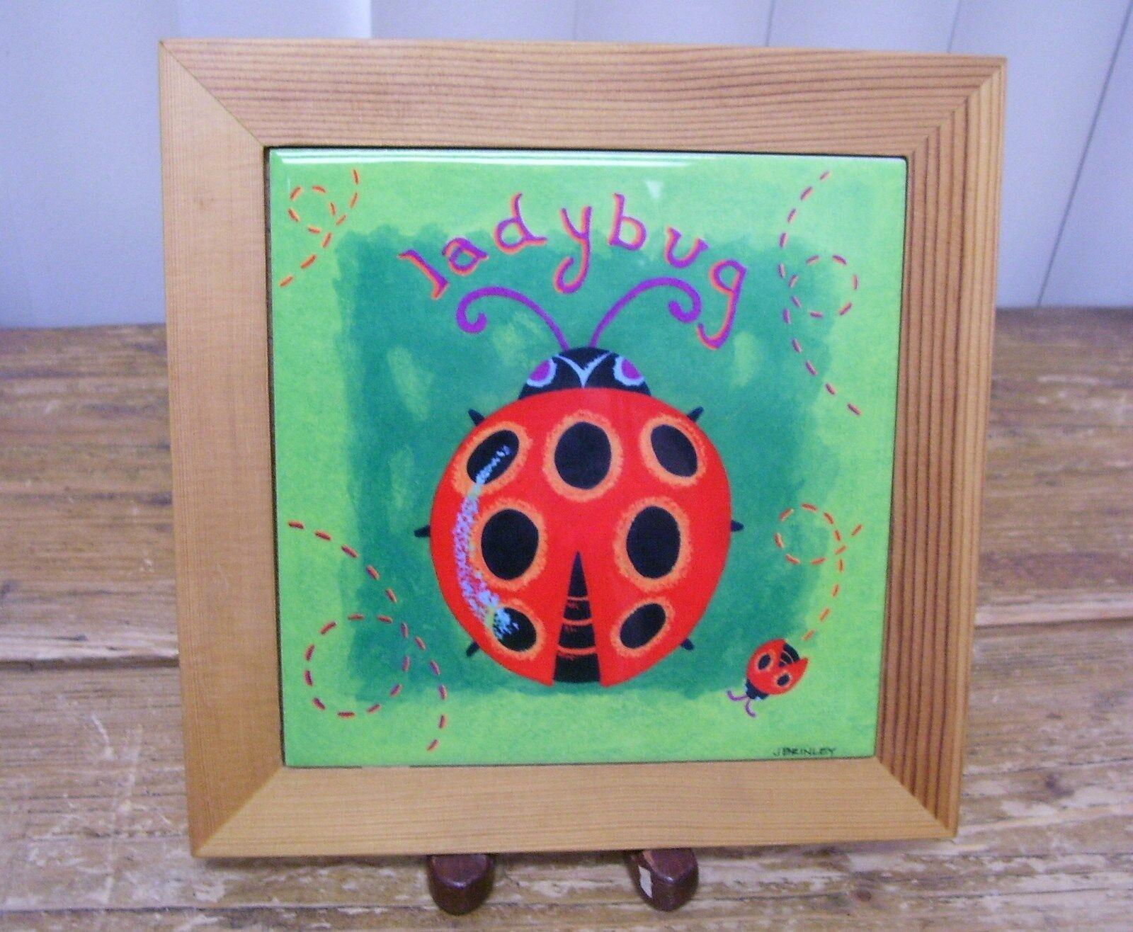 Lady bug ladybug ceramic tile trivet wall decoration decor j brinley lady bug ladybug ceramic tile trivet wall decoration decor j brinley dailygadgetfo Choice Image