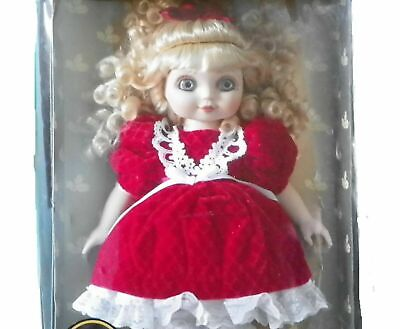 "Sale! BNIB Marie Osmond ""Adora Belle"" 15 inch Doll - 1999 Curls and velvet dress"