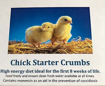 Chick Crumb Food. Complete Feed. I Kg. Free Next Day Delivery. Anti Coccidiosis