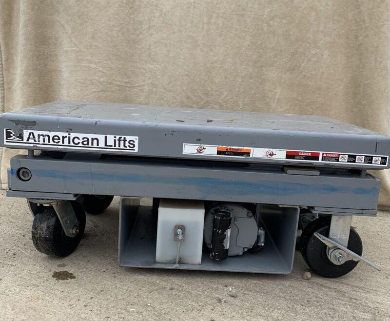 American Lifts Electric/hydraulic Scissor Lift Table 4000 Lbs.