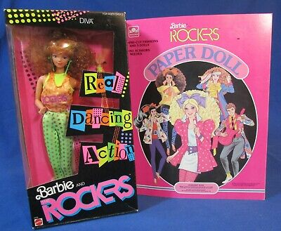 Barbie and the Rockers – Diva Doll 1986 – NRFB & Paper Dolls Never Cut
