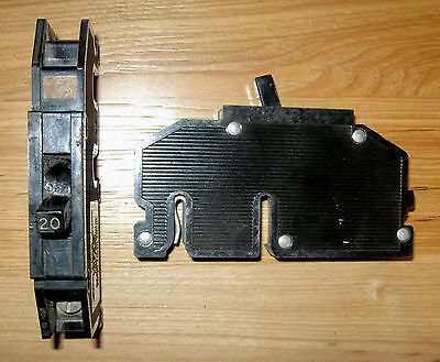 Zinsco Gte Sylvania 20 Amp 20a Single Pole Circuit Breaker Type Q