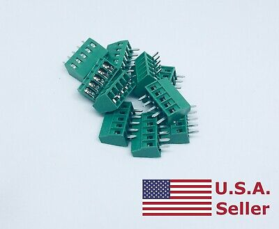 10pcs 2.54mm 0.1 Universal 5 Pin 5 Poles Pcb Screw Terminal Block Connector