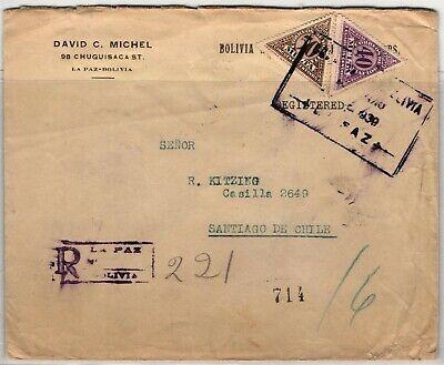 GP GOLDPATH: BOLIVIA COVER 1939 REGISTERED LETTER _CV698_P19