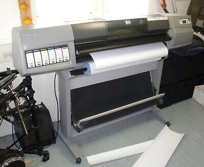 """HP DesignJet 5500 42""""Color Plotter,Q1251A,inkjet printer,blueprint,poster,signs"""