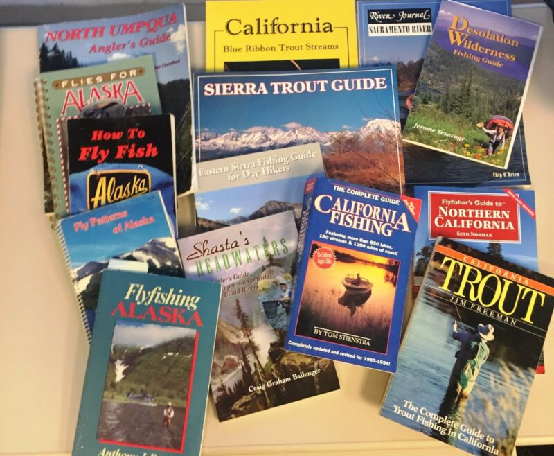Fly Fishing books, CA, OR, AK