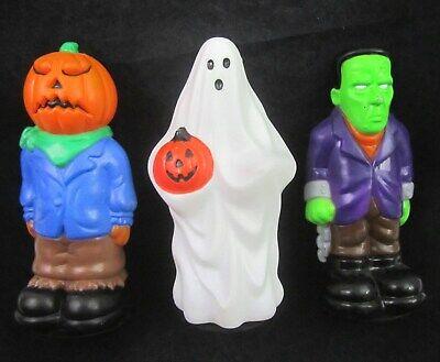 VTG Halloween BLOW MOLD Set Light Toppers Ghost Pumpkin General Foam Empire Lot
