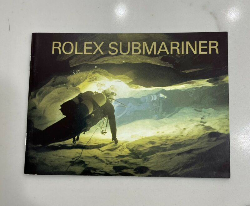 Authentic Vintage Rolex Submariner Booklet Manual Set Year 2004 VERY CLEAN