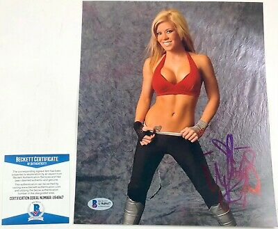 P895 Madison Rayne 8x10 Official TNA Impact Wrestling