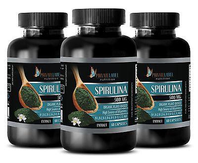 Klamath Blue Green Algae - Pure Spirulina 500mg -improve ...