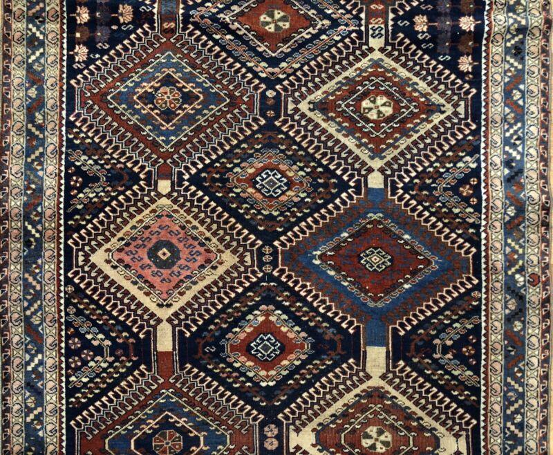 Tremendous Tribal - 1940s Antique Oriental Rug - Nomadic Carpet - 5 X 8 Ft.