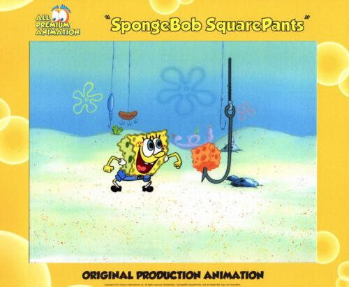 "WONDERFUL IMAGE ! ""THE VERY BEST""! Spongebob Production CEL #8797 ""HOOKY"""