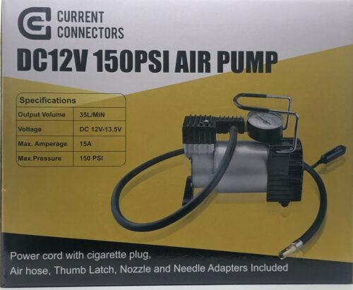 Portable Heavy Duty 12V 150PSI Air Compressor Tires Inflatables Emergencies