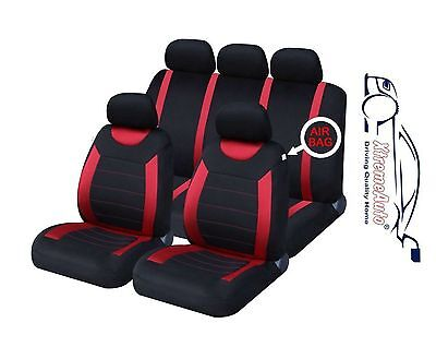 CARNABY RED CAR SEAT COVERSRUBBER FLOOR MATS Chrysler Voyager Neon Sebring
