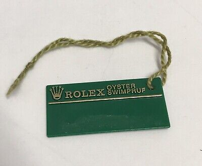 ROLEX Green Tag Hangtag Oyster Swimpruf W339825 SUBMARINER GMT EXPLORER 1994/95