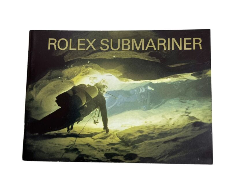 Authentic Vintage Rolex Submariner Booklet Manual Set Year 2007 VERY CLEAN
