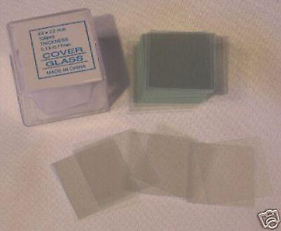 Microscope Slides Cover Glass Slip 2222 Mm 100 Pcs New